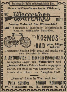 Quelle: Österr. Nationalbibliothek, Illustrierte Kronen Zeitung, 22. März 1913