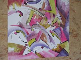 Danseurs - Aquarelle d'Anne-Marie Surlier