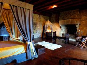 Chambre insolite au Château médiéval de Tennessus Chambre Seigneuriale avec cheminée