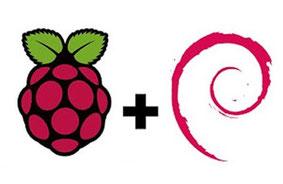 Logo de Raspbian distribution officielle du Raspberry Pi