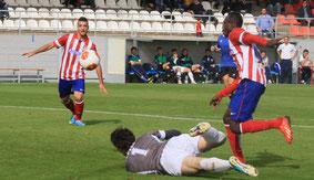 Nana y Rubén Mesa, dos de los futbolistas más peligrosos del Atlético B. Foto: www.clubatleticodemadrid.com