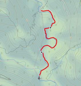 Routenverlauf vom Triftsteig im Reichraminger Hintergebirge