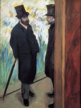 """Edgar Degas, """"Amici a teatro"""""""