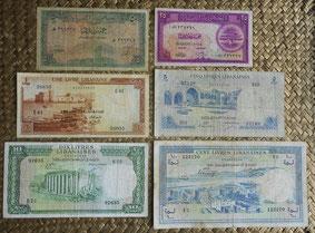 Líbano piastras y libras 1948-1964 anversos