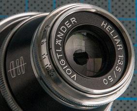 Test und Erfahrungsbericht VOIGTLÄNDER Heliar 3,5/50 mm VM, Blick auf die Blendenlamellen, Foto: Klaus Schoerner