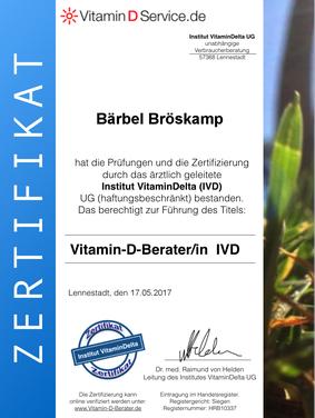 Vitamin D Beratung und Therapie in Rheine - Bärbel Bröskamp Heilpraktikerin
