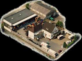 Luftbild des Betriebs
