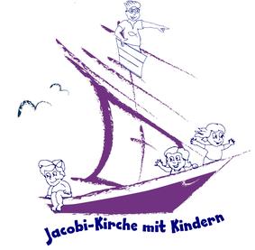 Jacobi-Kirche mit Kindern