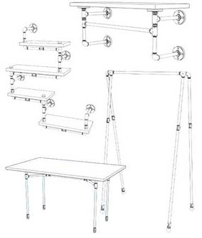 Rohrmöbel Baupläne und Bauanleitungen Möbel aus Rohren