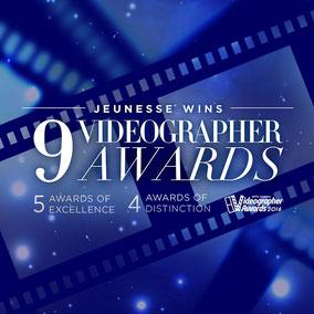 Награды компании Jeunesse Global, Videographer Awards,  Успех, Компания Дженесс получает награды, Jeunesse business awards, Business awards, Jeunesse Global,