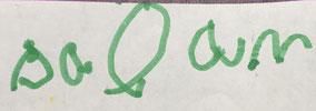 """Lettres """"s,o,a"""" réalisées en 2 temps. Aucun lien entres elles."""