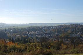 Blick von der Kapelle auf Winnweiler