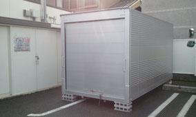 中古アルミコンテナ(トラックコンテナ)シャッター納品