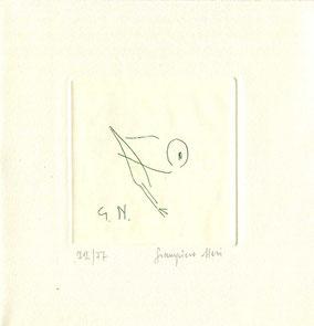 acquaforte originale dell'autore numerata e firmata - lastra 80x80mm