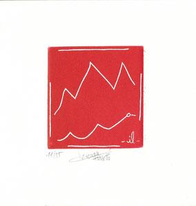 acquaforte originale dell'autore numerata e firmata - versione rossa