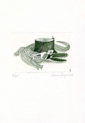 acquaforte originale di Luciano Ragozzino numerata e firmata - lastra 78x118 mm