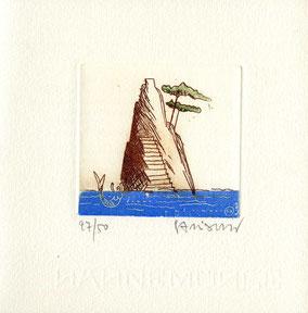 acquaforte originale dell'autore numerata e firmata - lastra 75x80 mm