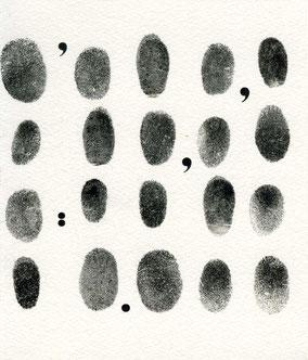 stampa tipografica e impronte digitali
