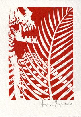 linoleum originale di Luciano Ragozzino numerato e firmato - lastra 150x108 mm