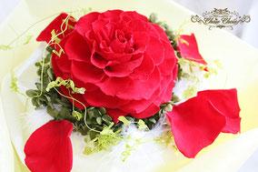 ディズニー プロポーズ ディズニーランドホテル 美女と野獣 一輪のバラ 花束 プリザーブドフラワー オーダーフラワー  シュシュ chouchou  舞浜花屋