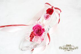 楽屋花 コンサート 埼玉スーパーアリーナ ガラスの靴 プリザーブドフラワー オーダーフラワー シュシュ chouchou