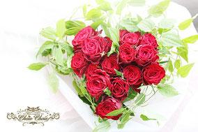 プロポーズ ハートの花束 ミラコスタ ディズニー  オーダーフラワー  シュシュ chouchou 舞浜花屋