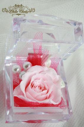 プロポーズ  一輪の薔薇 隠れミッキー フラワーギフト プレゼント プリザーブドフラワー