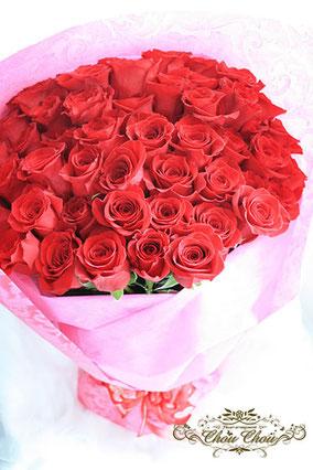 ディズニープロポーズ 赤薔薇 花束 ミラコスタ 配達 花屋 オーダーフラワー  シュシュ chouchou