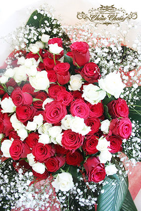 プロポーズ ディズニーランドホテル 108輪の薔薇 花束 配達 オーダーフラワー  シュシュ chouchou 舞浜花屋