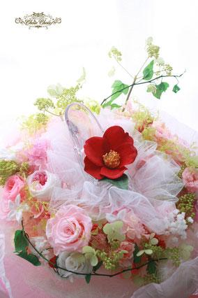 プロポーズ 花束  プリザーブドフラワー  フラワーギフト ディズニー ガラスの靴