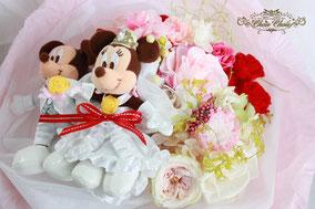 プロポーズ 花束  プリザーブドフラワー  フラワーギフト ディズニー  ウェディング ミッキー&ミニー