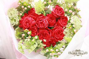 ディズニープロポーズ ハートの花束 赤バラ 舞浜 花屋