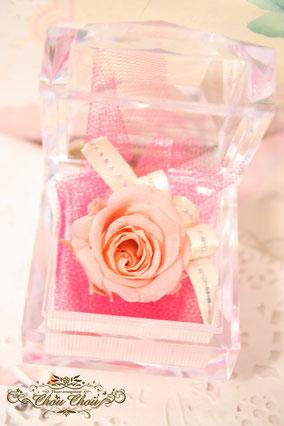 プロポーズ 一輪のバラ リングケース フラワーギフト プレゼント プリザーブドフラワー