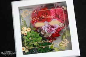 ジュエリーボックス 多肉植物 ハート 結婚祝い ウェディング リングホルダー
