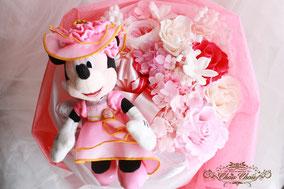 プロポーズ 花束  プリザーブドフラワー ミニーちゃん ディズニーランド フラワーギフト シンデレラ城