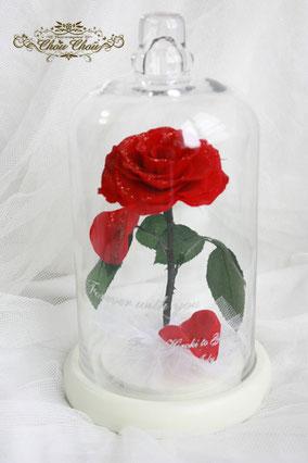美女と野獣 バラ ガラスドーム プロポーズ