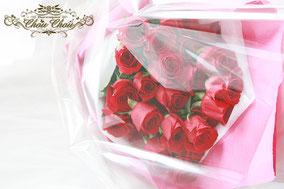 ディズニー  プロポーズ ミラコスタ 赤薔薇 花束 オーダーフラワー  シュシュ chouchou 舞浜花屋