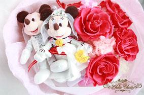 プロポーズ 花束 プリザーブドフラワー ディズニー ミッキー ミニー ウェディング バラ