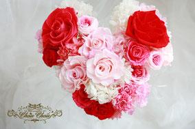 プロポーズ 花束 プリザーブドフラワー ディズニー ハート バラ
