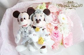 ディズニー プロポーズ ミラコスタ プリザーブドフラワー 花束 ウェディング ミッキー ミニー