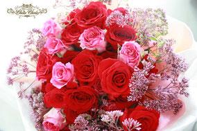花束 プロポーズ 赤バラ ディズニー