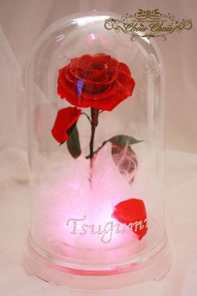美女と野獣 薔薇 光る LED ディズニー