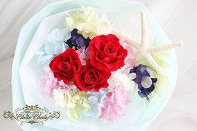 ディズニー プロポーズ ミラコスタ アリエル マーメイド プリザーブドフラワー 花束 赤薔薇 オーダーフラワー