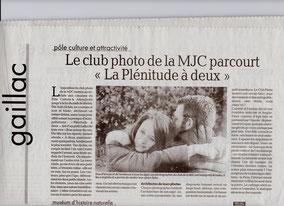 """Article paru dans """"La dépèche"""""""