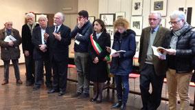 Da sx  Mainardi, Cavalli, Barola, Torre, Lavagno, Sindaco Palazzetti, Assessore Carmi, Barbato, Demaria.