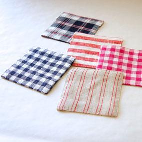 fog linen work /リネンコースター ¥378(税込) シーズン毎に柄が変わり、豊富な中からお選び頂けます。