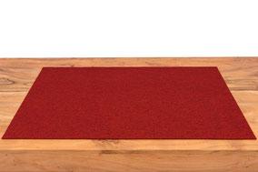 Rob&Raf Schreibunterlage aus Wollfilz in Melange Rot auf Schreibtisch
