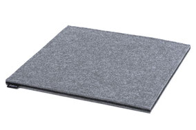 Rob&Raf Sitzkissen Sitzunterlage aus Polyester Filz in Grau, Quadrat
