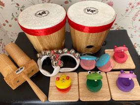 プリマヴェーラ音楽協会のリトミック教室の教材の写真