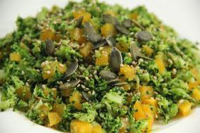 Falso arroz de brócoli y calabaza